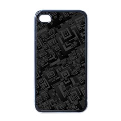 Black Rectangle Wallpaper Grey Apple Iphone 4 Case (black)
