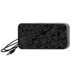 Black Rectangle Wallpaper Grey Portable Speaker (black)