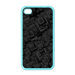 Black Rectangle Wallpaper Grey Apple iPhone 4 Case (Color)