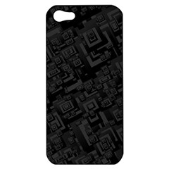 Black Rectangle Wallpaper Grey Apple Iphone 5 Hardshell Case