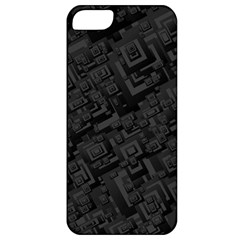 Black Rectangle Wallpaper Grey Apple Iphone 5 Classic Hardshell Case