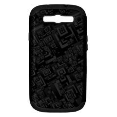 Black Rectangle Wallpaper Grey Samsung Galaxy S III Hardshell Case (PC+Silicone)