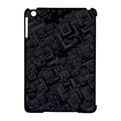 Black Rectangle Wallpaper Grey Apple Ipad Mini Hardshell Case (compatible With Smart Cover)