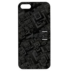 Black Rectangle Wallpaper Grey Apple Iphone 5 Hardshell Case With Stand