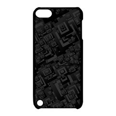Black Rectangle Wallpaper Grey Apple Ipod Touch 5 Hardshell Case With Stand