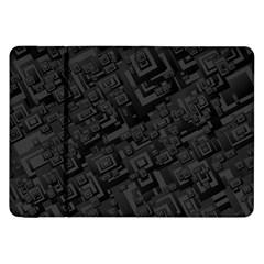Black Rectangle Wallpaper Grey Samsung Galaxy Tab 8 9  P7300 Flip Case