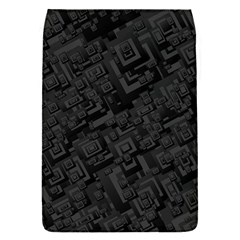 Black Rectangle Wallpaper Grey Flap Covers (s)