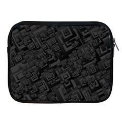 Black Rectangle Wallpaper Grey Apple Ipad 2/3/4 Zipper Cases
