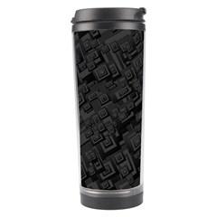 Black Rectangle Wallpaper Grey Travel Tumbler