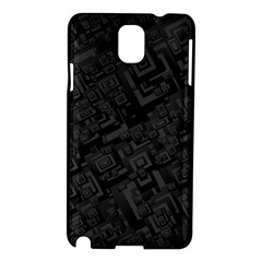 Black Rectangle Wallpaper Grey Samsung Galaxy Note 3 N9005 Hardshell Case