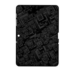 Black Rectangle Wallpaper Grey Samsung Galaxy Tab 2 (10 1 ) P5100 Hardshell Case