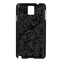 Black Rectangle Wallpaper Grey Samsung Galaxy Note 3 N9005 Case (black)