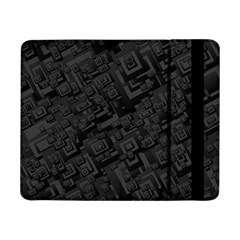 Black Rectangle Wallpaper Grey Samsung Galaxy Tab Pro 8 4  Flip Case