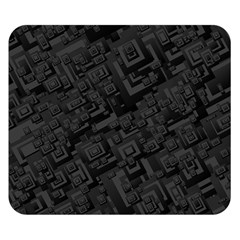 Black Rectangle Wallpaper Grey Double Sided Flano Blanket (small)