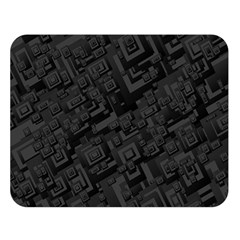 Black Rectangle Wallpaper Grey Double Sided Flano Blanket (large)