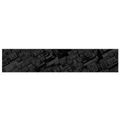 Black Rectangle Wallpaper Grey Flano Scarf (small)