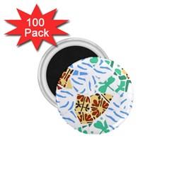 Broken Tile Texture Background 1 75  Magnets (100 Pack)