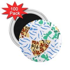 Broken Tile Texture Background 2 25  Magnets (100 Pack)