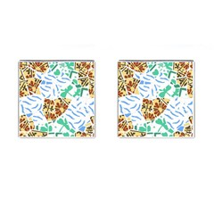 Broken Tile Texture Background Cufflinks (square)