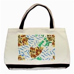 Broken Tile Texture Background Basic Tote Bag