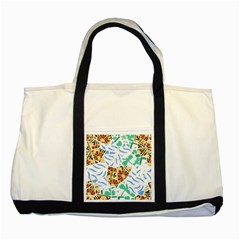 Broken Tile Texture Background Two Tone Tote Bag