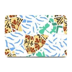 Broken Tile Texture Background Plate Mats