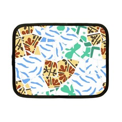 Broken Tile Texture Background Netbook Case (small)