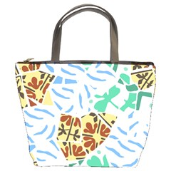 Broken Tile Texture Background Bucket Bags