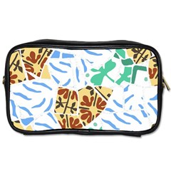 Broken Tile Texture Background Toiletries Bags 2 Side