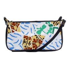 Broken Tile Texture Background Shoulder Clutch Bags