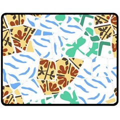 Broken Tile Texture Background Fleece Blanket (medium)