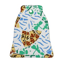 Broken Tile Texture Background Bell Ornament (two Sides)
