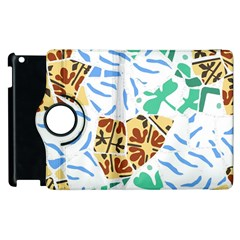 Broken Tile Texture Background Apple iPad 2 Flip 360 Case