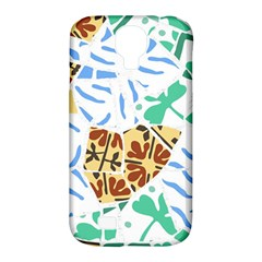 Broken Tile Texture Background Samsung Galaxy S4 Classic Hardshell Case (pc+silicone)