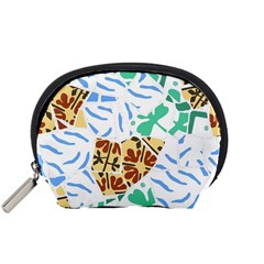 Broken Tile Texture Background Accessory Pouches (small)