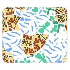 Broken Tile Texture Background Double Sided Flano Blanket (small)
