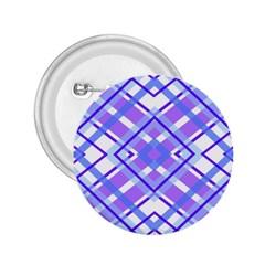 Geometric Plaid Pale Purple Blue 2 25  Buttons