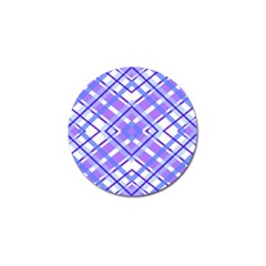 Geometric Plaid Pale Purple Blue Golf Ball Marker (4 Pack)