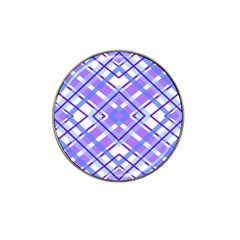 Geometric Plaid Pale Purple Blue Hat Clip Ball Marker (10 Pack)