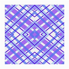 Geometric Plaid Pale Purple Blue Medium Glasses Cloth (2 Side)