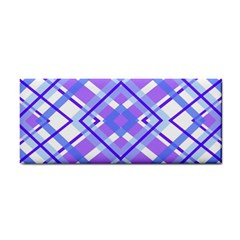 Geometric Plaid Pale Purple Blue Cosmetic Storage Cases