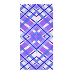 Geometric Plaid Pale Purple Blue Shower Curtain 36  x 72  (Stall)