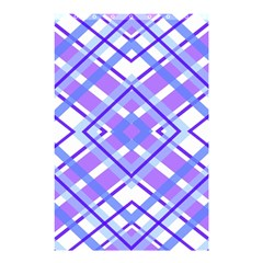 Geometric Plaid Pale Purple Blue Shower Curtain 48  X 72  (small)