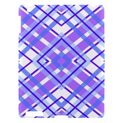 Geometric Plaid Pale Purple Blue Apple Ipad 3/4 Hardshell Case