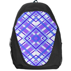 Geometric Plaid Pale Purple Blue Backpack Bag