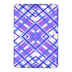 Geometric Plaid Pale Purple Blue Kindle Fire Hdx 8 9  Hardshell Case