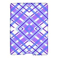 Geometric Plaid Pale Purple Blue Samsung Galaxy Tab S (10 5 ) Hardshell Case