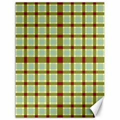 Geometric Tartan Pattern Square Canvas 12  x 16