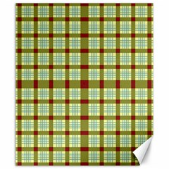 Geometric Tartan Pattern Square Canvas 20  X 24