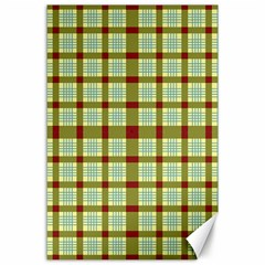 Geometric Tartan Pattern Square Canvas 24  X 36
